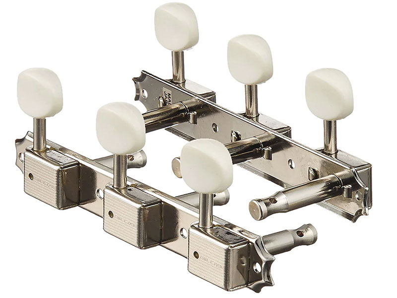 GOTOH 3 on a plate Machine Heads White Buttons