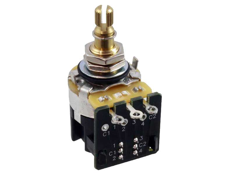 CTS 500K Short Shaft Pull-Push Potentiometers - Audio Taper