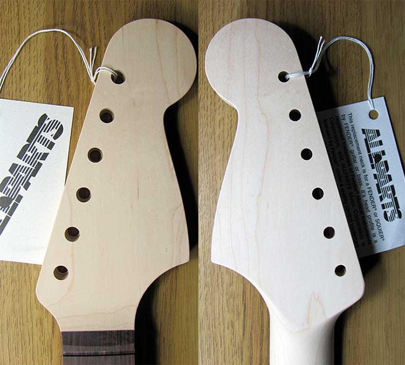Allparts JZRO Jazzmaster Neck - Click Image to Close