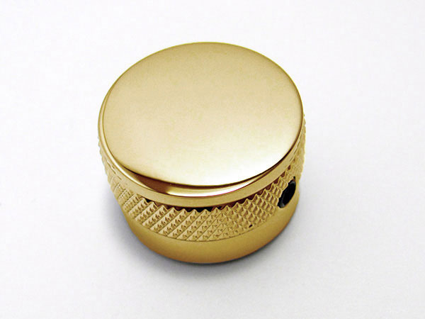 Metal knob - Plain Top (Gold) - B-Stock