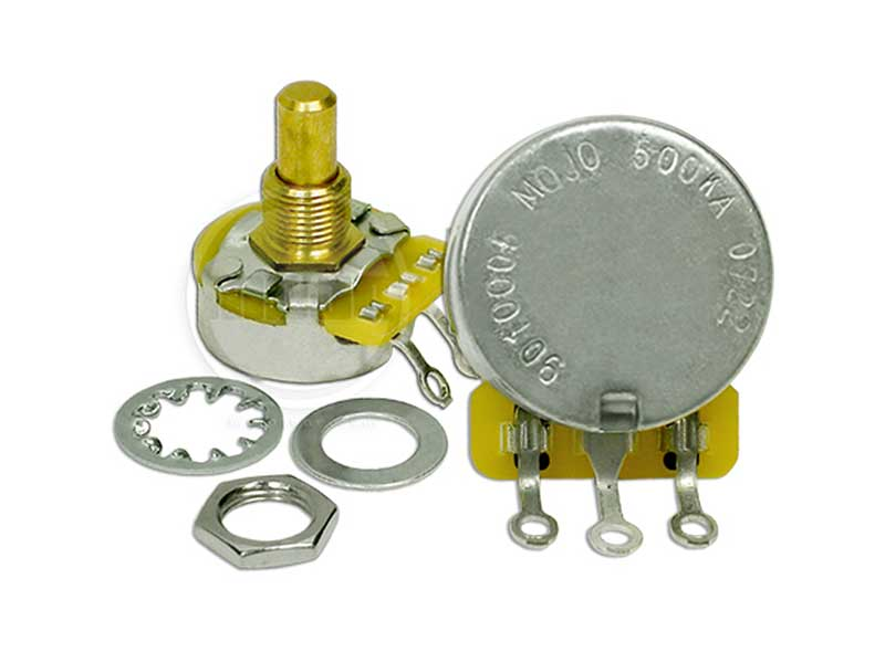 CTS 500K potentiometers - Audio Taper (solid shaft)