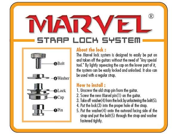 Marvel Strap Locks (pair)