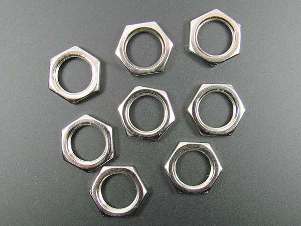 "3/8"" Nut For Pots and Jacks (pack of 8)"