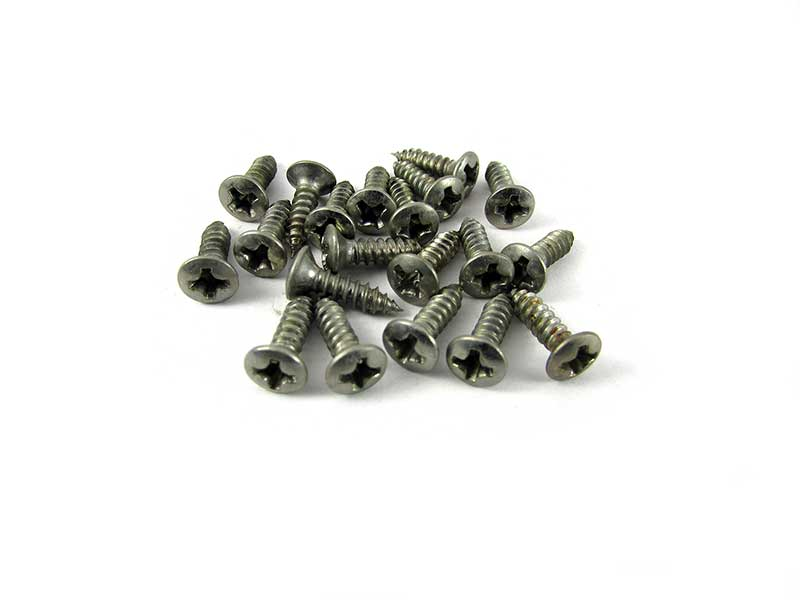 Pickguard screws, Phillips head (x 20) - Aged