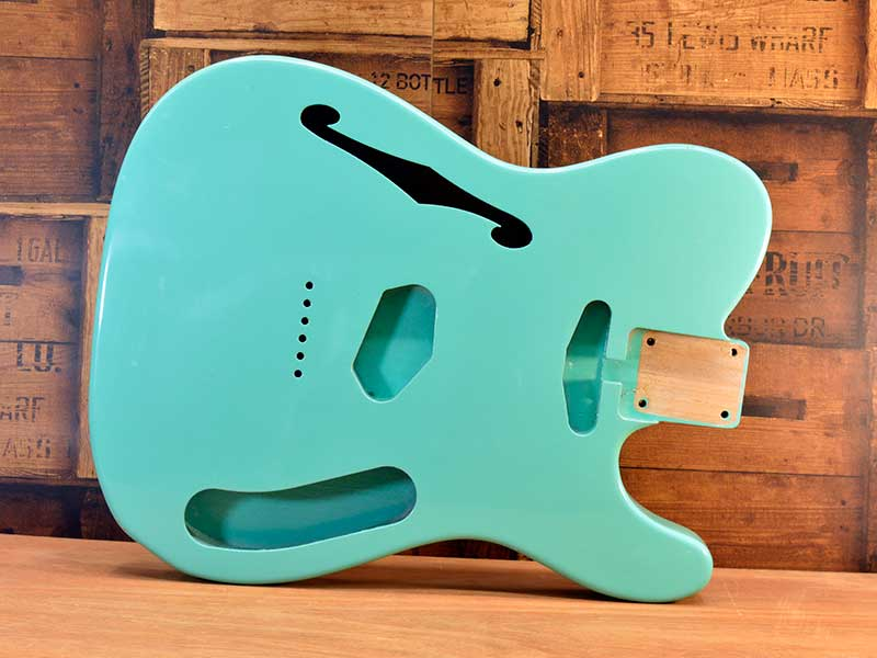HOSCO Thinline Telecaster Body Aged Sea Foam Green Nitro