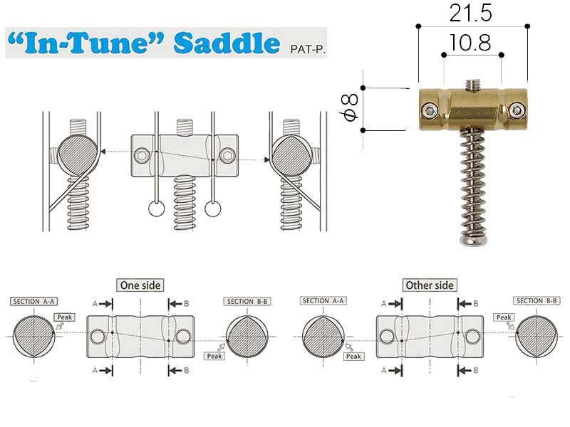 "Gotoh ""In Tune"" Compensated Telecaster Saddles - Brass"