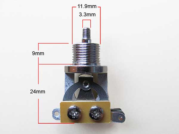 LP style short toggle switch