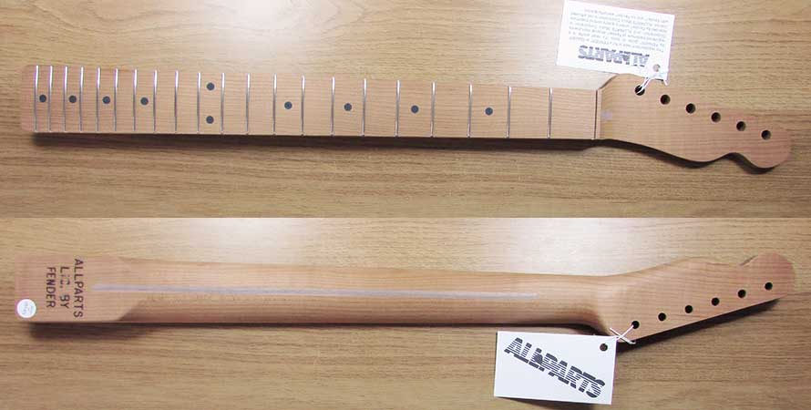 Allparts Quarter Sawn Roasted Telecaster Neck (Unfinished)